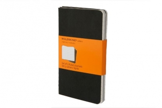 Moleskine Ruled Cahier (set of 3) Black pocket