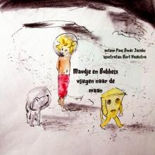 Paul Dunki Jacobs , Maudje en Bubbels vliegen naar de maan