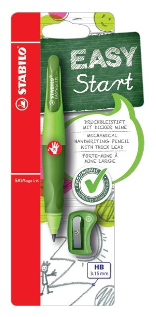 ,Vulpotlood STABILO Easyergo 3.15mm rechtshandig groen/donkergroen blister