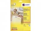 ,etiket Avery ILK 25,4x10mm wit NP 25 vel 189 etiketten per  vel