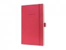 ,notitieboek Sigel Conceptum Look Felt A5 gelinieerd         softcover rood