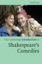 Gay, Penny Cambridge Introduction to Shakespeare`s Comedies