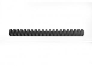 , Bindrug GBC 25mm 21rings A4 zwart 50stuks