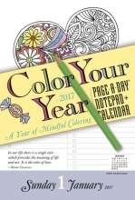 Color Your Year Notepad + 2017 Calendar