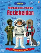 Aankleden met stickers Actiehelden