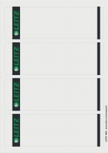 , Rugetiket Leitz breed/kort 62x192mm zelfklevend wit