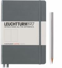 Lt344782 , Leuchtturm notitieboek medium 145x210 lijn anthraciet