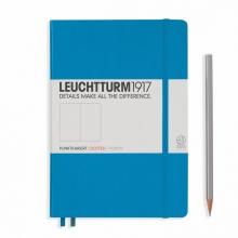 Lt346695 , Leuchtturm notitieboek medium 145x210 puntjes/dots  azuurblauw