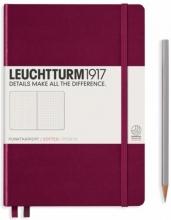 , Leuchtturm notitieboek pocket 90x150 dots  / bullets port rood