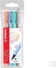 , Viltstift STABILO pointmax 488 etui à 4 kleuren