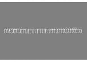 , Draadrug GBC 8mm 34-rings A4 wit 100stuks