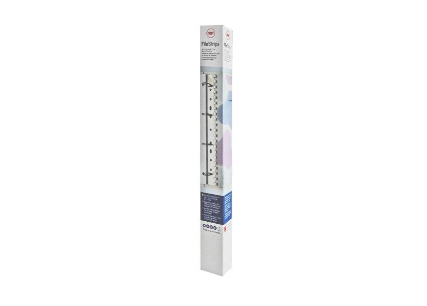 ,Filestrip GBC 34-gaats A4 transparant 100stuks