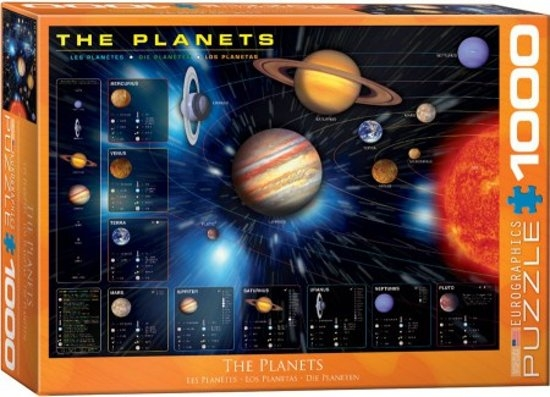 Eur-6000-1009,Puzzel planets eurographics 1000 stukjes