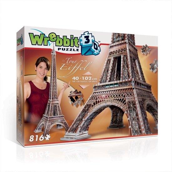 W3d-2009,Puzzel 3d la tour eiffel wrebbit 816 stuks