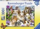 <b>Rav-109494</b>,Knaagdieren selfie - ravensburger - puzzel - 100 xxl - 49 x 36