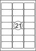 , Etiket Quantore 63.5x38.1mm 2100stuks