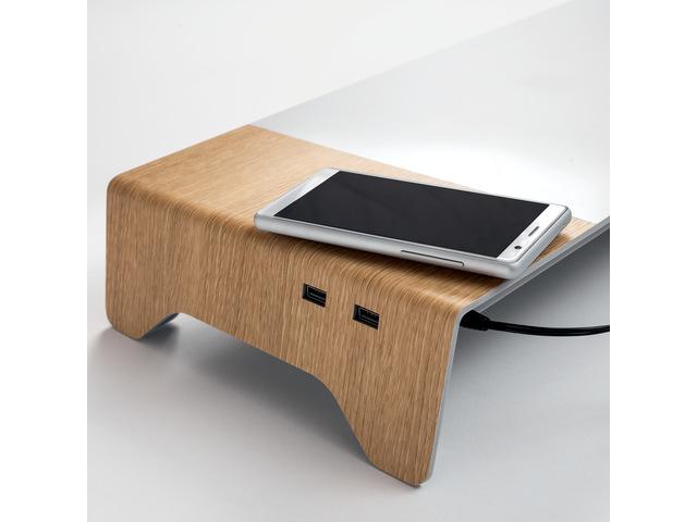 ,Monitorstandaard smartstyle USB 3.0 + inductie-acculader