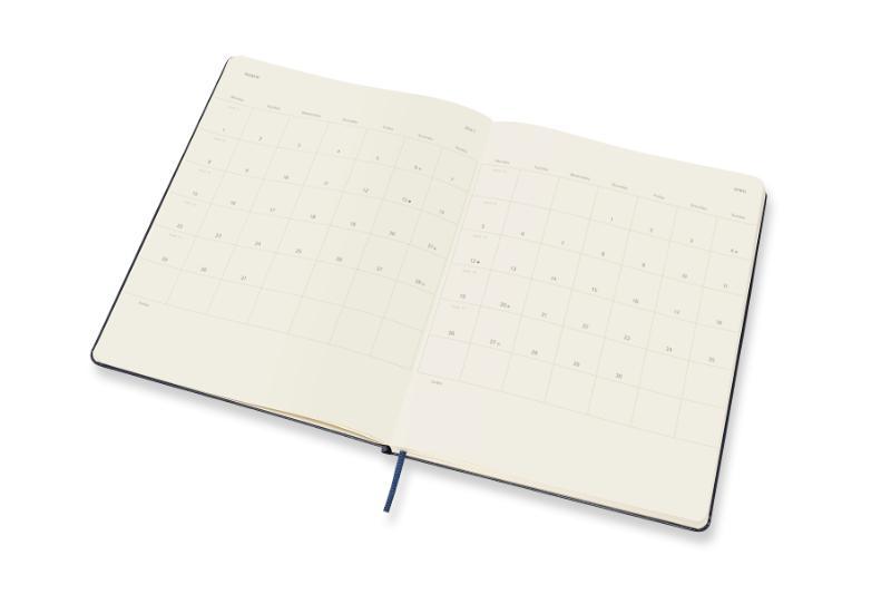 ,Moleskine 12 MND Agenda - 2021 - Wekelijks - XL (13X25 cm) - Sapphire Blauw - Harde Kaft