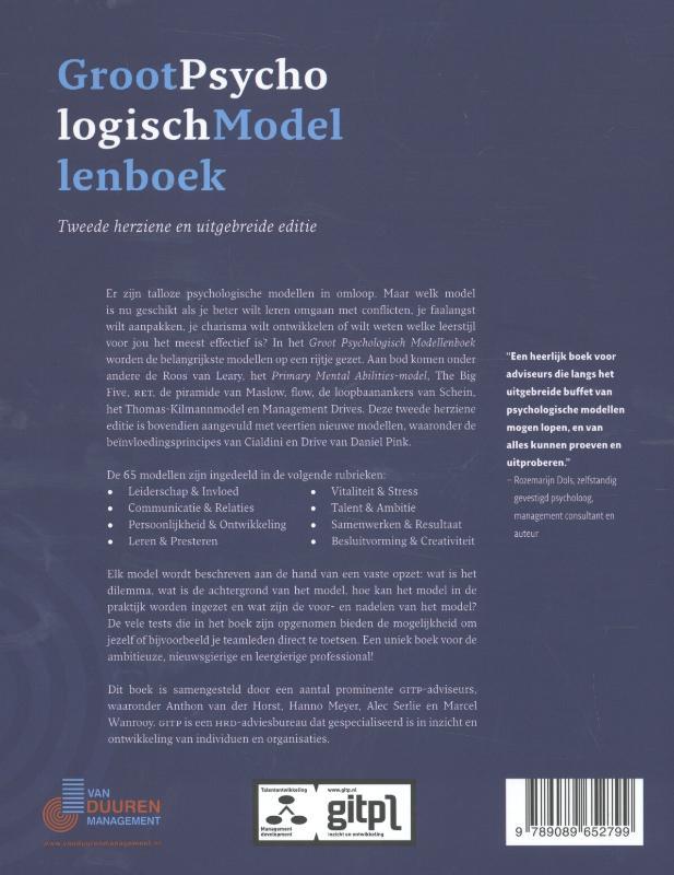 Anton van der Horst, Marcel Wanrooy, Hanno Meyer, Alec Serlie,Groot psychologisch modellenboek