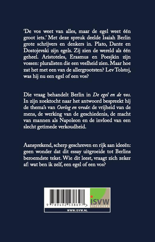 Isaiah Berlin,De egel en de vos