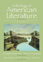 McMichael, George Anthology of American Literature, Volume I