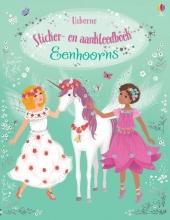 , Sticker- en aankleedboek Eenhoorns