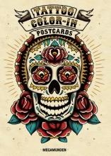 Megamunden Tattoo Color-In Postcards