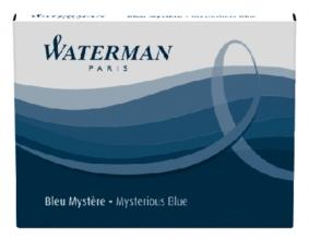 , Inktpatroon Waterman internationaal blauw-zwart