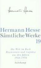 Hesse, Hermann Die Welt im Buch 4