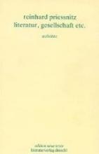 Priessnitz, Reinhard Werkausgabe Literatur, Gesellschaft etc.