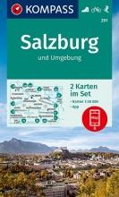 KOMPASS-Karten GmbH , KOMPASS Wanderkarte Salzburg und Umgebung 1:50 000