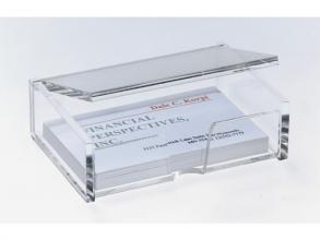 , visitekaartbox met deksel Sigel acryl glashelder