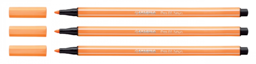 , Viltstift STABILO Pen 68/054 neon oranje