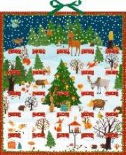 Bunte Winter-Weihnachts-Tierwelt Zettelkalender