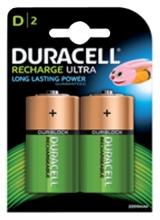 , Batterij oplaadbaar Duracell 2xD 3000mAh Plus