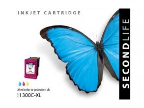 , Cartridge SecondLife HP 300 XL kleur