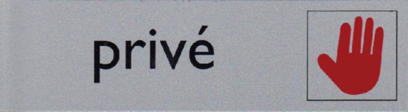 , Infobord pictogram prive 165x44mm