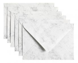 , Envelop Papicolor C6 114x162mm Marble grijs