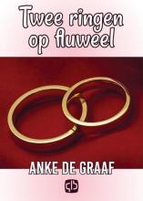 Anke de Graaf Twee ringen op fluweel - grote letter uitgave