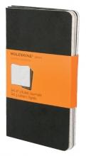 , Schrift Moleskine pocket 90x140mm lijn 120blz zwart