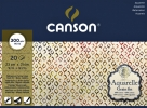 ,Aquarelblok Canson 23x31cm 20V 300gr fijn gelijmd