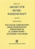 Eickhoff, Thomas,Politische Dimensionen einer Komponistenbiographie im 20. Jahrhundert - Gottfried von Einem