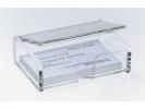 ,visitekaartbox met deksel Sigel acryl glashelder