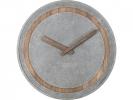 ,<b>Wandklok NeXtime dia. 39.5 cm, polyresin/hout, grijs</b>