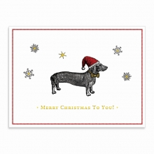Scott, Alica Alice Scott Christmas Dachshund Embellished Notecards