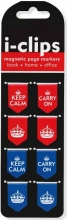 Keep Calm & Carry on I-clips Magnetic Page Markers