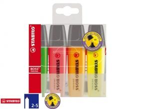 , Markeerstift STABILO Boss Original  70/4 etui  à 4 kleuren