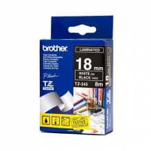 , Labeltape Brother P-touch TZE-345 18mm wit op zwart