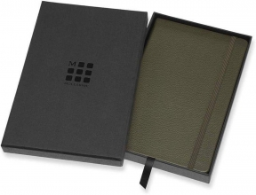 , Moleskine Limited Leather Notebook In Box Large Ruled Moss Green