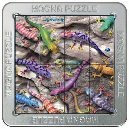 Tff-021195,Puzzel 3d magna geckos 16 stuks